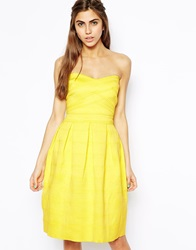 River Island Textured Prom Dress Yellow