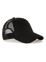 Topman Black Curved Peak Trucker Cap