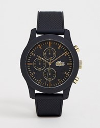 Lacoste Silicone Watch In Black