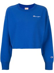 Champion Cropped Sweatshirt Blue
