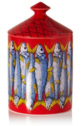 Fornasetti Sardine Scented Candle Red