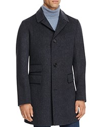 Billy Reid Astor Virgin Wool Coat Navy Melange