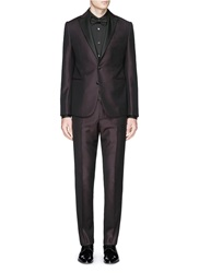 Armani Collezioni 'Metropolitan' Satin Lapel Wool Tuxedo Suit Red