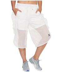 Puma Xtreme Mesh Frill Shorts White Women's Shorts