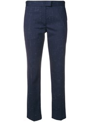 Paul Smith Ps By Tab Front Cropped Trousers Blue