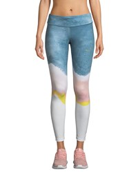 Nike Epic Lux Printed Running Tights White Pink