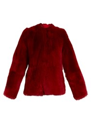 Raey 1970S Shearling Coat Red
