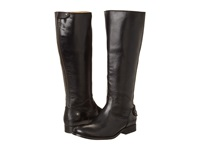 Frye Melissa Button Back Zip Extended Black Extended Soft Vintage Leather Cowboy Boots