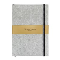 Christian Lacroix Paseo Embossed Notebook Silver A5