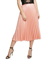 Bardot Accordion Pleated Skirt Coral