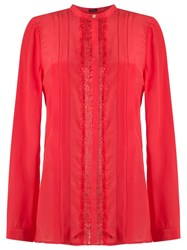 Tufi Duek Round Neck Shirt Silk Red