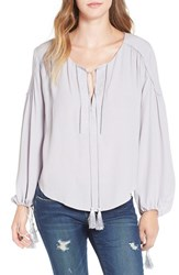 Astr Women's 'Ida' Split Neck Blouse