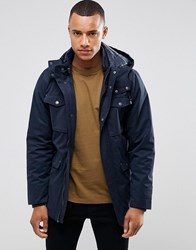 Casual Friday Parka With Removable Hood Navy