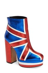Shellys Women's London Robi Union Jack Platform Bootie