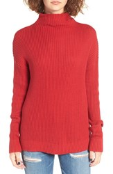 Women's Bp. Mock Neck Sweater Red Scooter