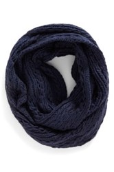 Lulu Cable Knit Infinity Scarf Juniors Blue