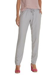 Betty And Co. Co Drawstring Trousers Light Silver Melange