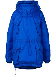 Maison Martin Margiela Oversized Padded Coat Blue