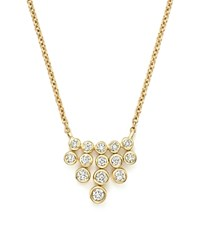 Bloomingdale's Diamond Bezel Fringe Pendant Necklace In 14K Yellow Gold .25 Ct. T.W. 100 Exclusive White Gold