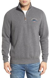 Tommy Bahama Men's 'Classic Aruba' Original Fit Half Zip Sweater Charcoal Heather
