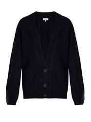 Elizabeth And James Lars Chunky Knit Cardigan Navy