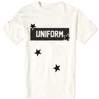 Uniform Experiment Star Print Box Logo Tee White