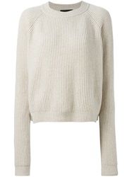 Erika Cavallini Semi Couture 'Jess' Sweater Nude And Neutrals
