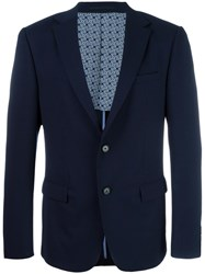 Z Zegna Flap Pockets Blazer Blue