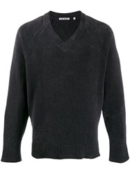 Our Legacy V Neck Sweater Grey