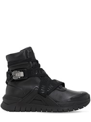 Balmain Troop Tech High Top Sneakers Black