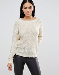 Pussycat London Long Sleeve Jumper Cream