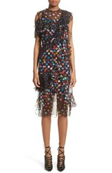 Givenchy Women's Vintage Dots Print Silk Chiffon Dress