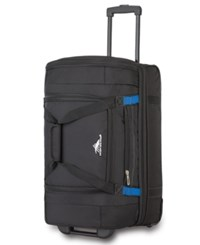 High Sierra 22 Wheeled Drop Bottom Duffel Bag Black