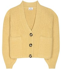 Acne Studios Hadlee Wool And Mohair Blend Cardigan Yellow