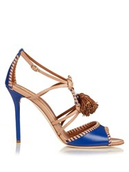 Malone Souliers Ruth Tassel Leather Sandals Blue Multi
