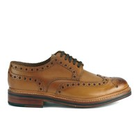Grenson Men's Archie Leather Brogues Tan Calf