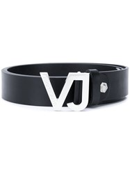 Versace Jeans Logo Buckle Belt Black