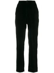 Yves Saint Laurent Vintage Velvety Straight Trousers Black