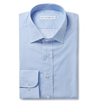 Etro Blue Printed Cotton Shirt Blue