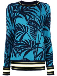Antonia Zander Palm Trees Jumper Blue