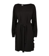 Pinko Ruffled Side Dress Female Black