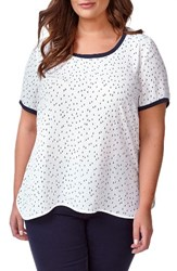 Addition Elle Love And Legend Plus Size Women's Print Crepe Tee