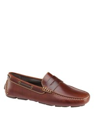 Johnston And Murphy Gibson Slip On Leather Penny Loafers Tan