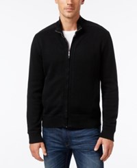 Cutter And Buck Big Tall Men's Silver Creek Full Zip Sweater Black