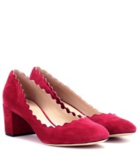 Chloe Lauren Suede Pumps Purple