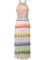 Missoni Mare Long Printed Dress Neutrals