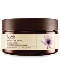 Ahava Lotus And Chestnut Mineral Botanic Rich Body Butter 8 Oz