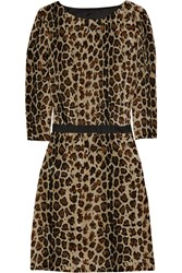 Camilla And Marc Blind Call Leopard Print Silk Dress
