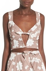 Women's For Love And Lemons 'Sweet Jane' Floral Bustier Crop Top