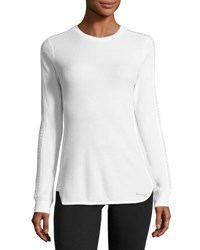 Marc New York Embellished Sleeve Thermal Top Black